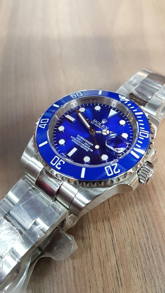 2247c228dbf reloj rolex suizo submariner acero cara azul automatico. Cargando zoom.