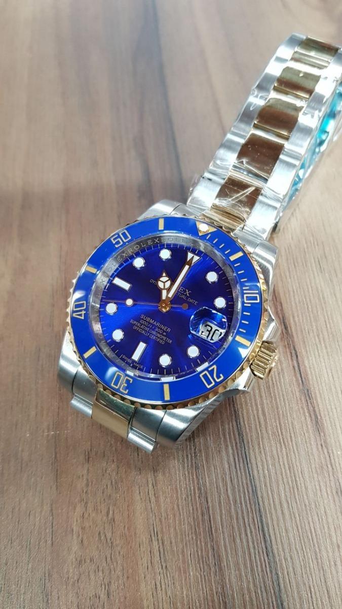 e98df1b1142 reloj rolex suizo submariner oro acero cara azul automatico. Cargando zoom.