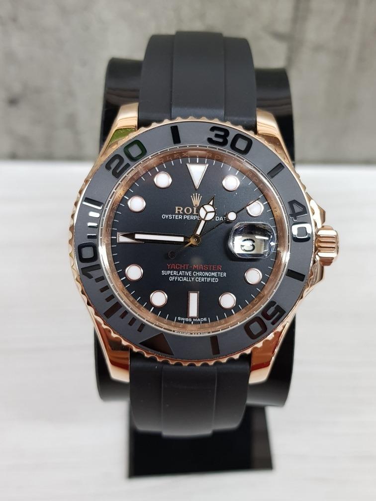 scarpe di separazione 7fc63 686c3 Reloj Rolex Yacht-master Oro Rosa Zafiro (fotos Reales)