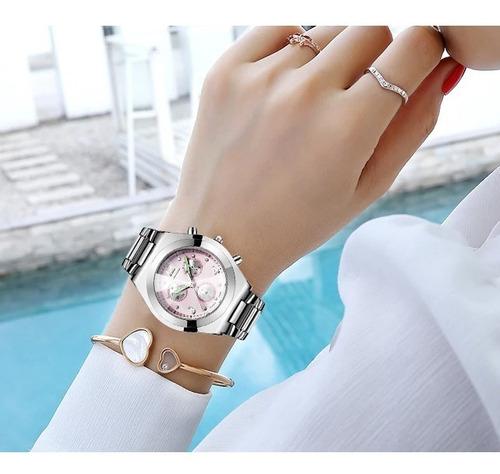 reloj  rose star dama mujer waterproof  acero inoxidable