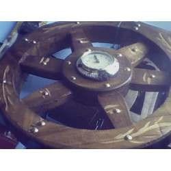 reloj rueda de madera  barcos casas  regalo papa