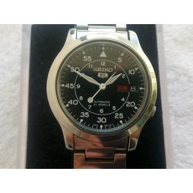 Reloj Seiko 5 Militar Automatico 21 Joyas En Acero