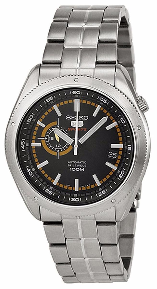95e8253a80e4 reloj seiko 5 sports automatic 24 jewels verde acero ssa063. Cargando zoom.