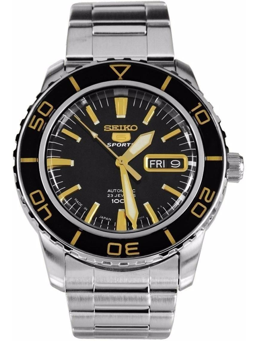ed7d70387 reloj seiko 5 sports automático 21 jewels negro snzh57j1. Cargando zoom.