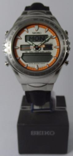 reloj seiko anadigi quartz vintage 200m sjp027 nuevo garant