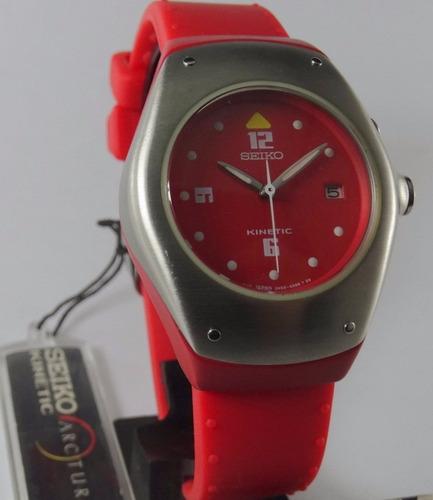reloj seiko arctura swp315 automatico kinetic dama caucho