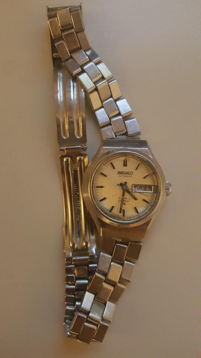 664c48f60296 reloj seiko automatic 17 jewels water resist calendario. Cargando zoom.