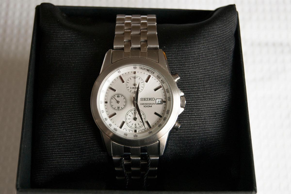 4f68171e72f7 reloj seiko chronograph quartz acero. Cargando zoom.