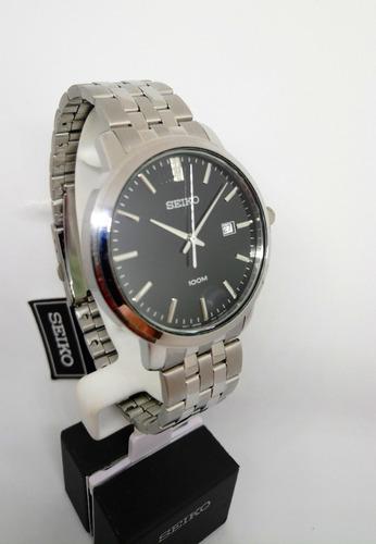 reloj seiko hombre acero diseño casual sur109p1 original