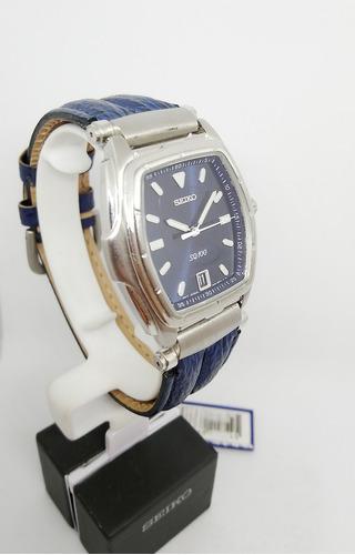 reloj seiko hombre cuero clasico azul sgd291p1 original