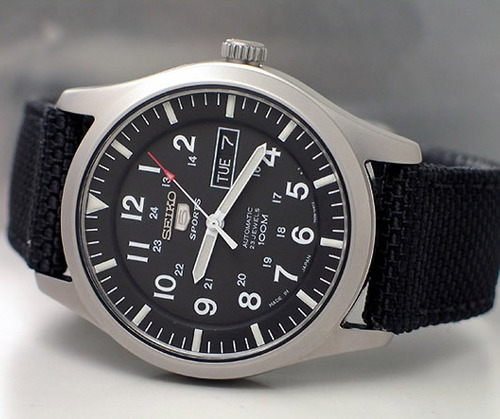 reloj seiko militar 5 snzg11j1 negro