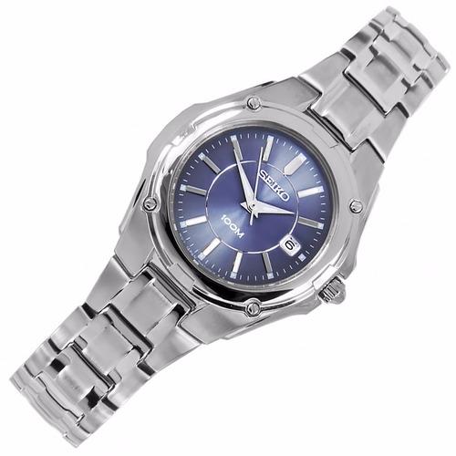 reloj seiko mujer 100 metros dial azul