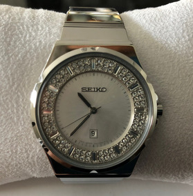 Mujer Doble Bisel Swarovsky Reloj Seiko A4qcSjL35R
