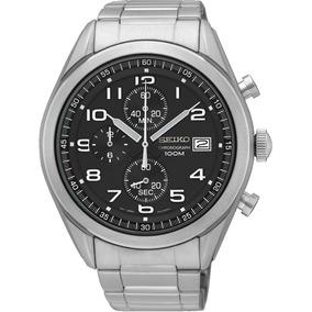 82672a17e636 Reloj Seiko Ssb111 Fondo Negro Aro Negro Acero 100mts Crono - Joyas y  Relojes en Mercado Libre Argentina