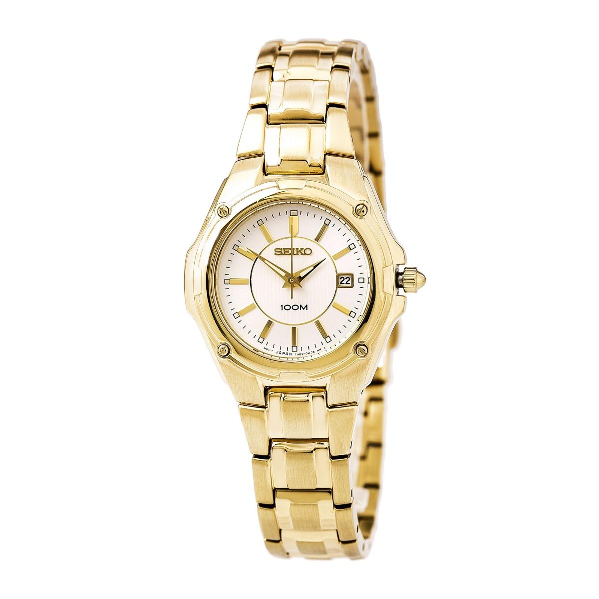 c6020b8f35d1 reloj seiko para mujer sxdb48 dorado con pulsera acero y. Cargando zoom.