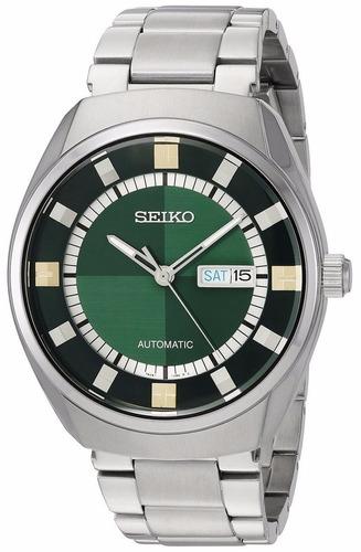 reloj seiko recraft automatic verde acero hombre snkn77