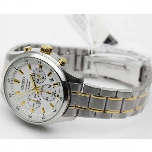 reloj seiko sks589p1 cronometro acero en 2 tonos caballero