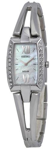 reloj seiko solar crystal acero inoxidable mujer sup083