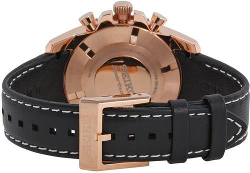reloj seiko solar sportura piel dorado negro ssc274