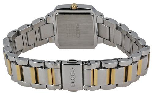 reloj seiko solar tressia diamonds 2 tonos mujer sup239