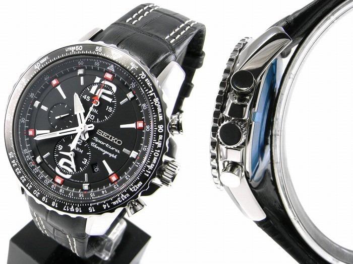 6d257550e47b Reloj Seiko Sportura Cronografo Correa Cuero Caballero -   38.499