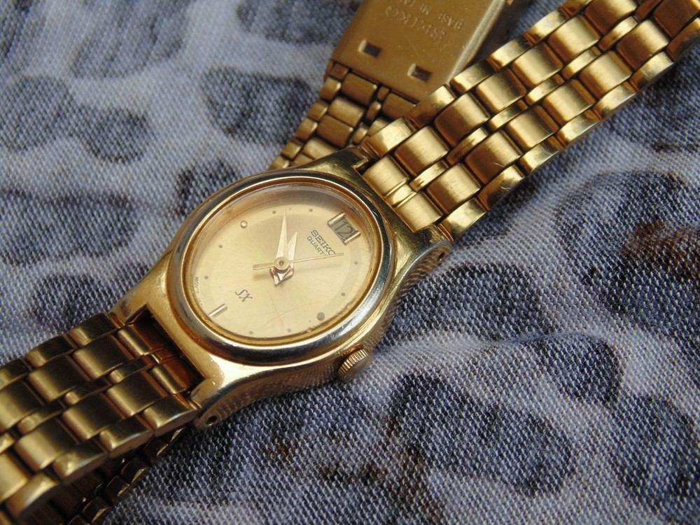 Reloj Seiko Sx Quartz Dama Dorado 800 00 En