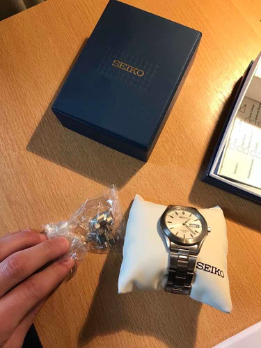reloj seiko titanium importado 50m
