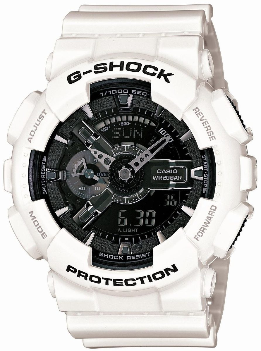 Reloj Serie Blanco Y Negro Casio G-shock Ga-110gw-7ajf ! -   784.185 ... 9bc4ebf45