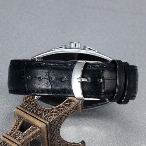 reloj sewor bush hombre cuero elegante automático mecánico
