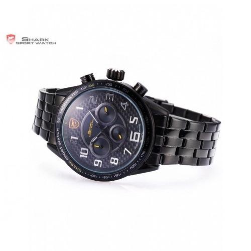 reloj shark blackspot - 6 agujas, acero inoxidable, original