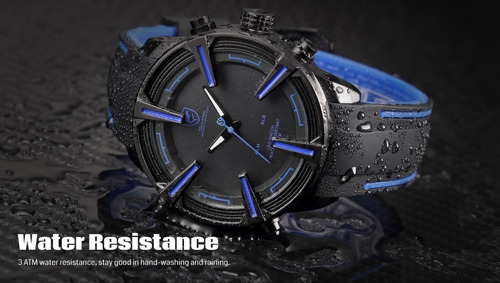 reloj shark dogfish spider - led fecha alarma original