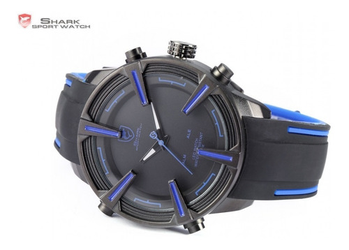 reloj shark dogfish spider - led fecha alarma original