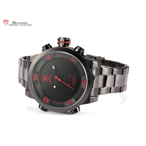 reloj shark gulper 2 - luz led dual negro/rojo original