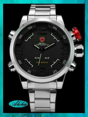 reloj shark gulper alarma led exclusivo original!