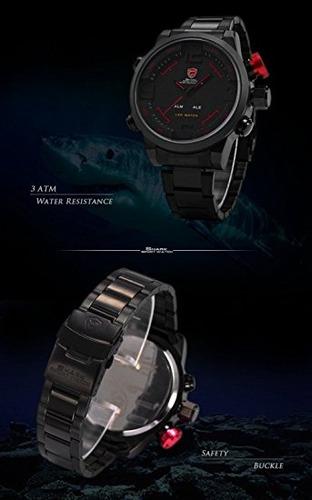 reloj shark  led deporte militar del ejército masculino