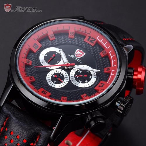 reloj shark longfin - mecanismo suizo - varios colores