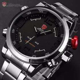 Reloj Shark Sh103 Original Acero Inoxidable Digital-análogo