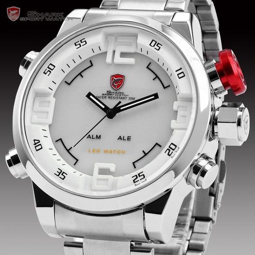 reloj shark sh104 original acero inoxidable digital-análogo