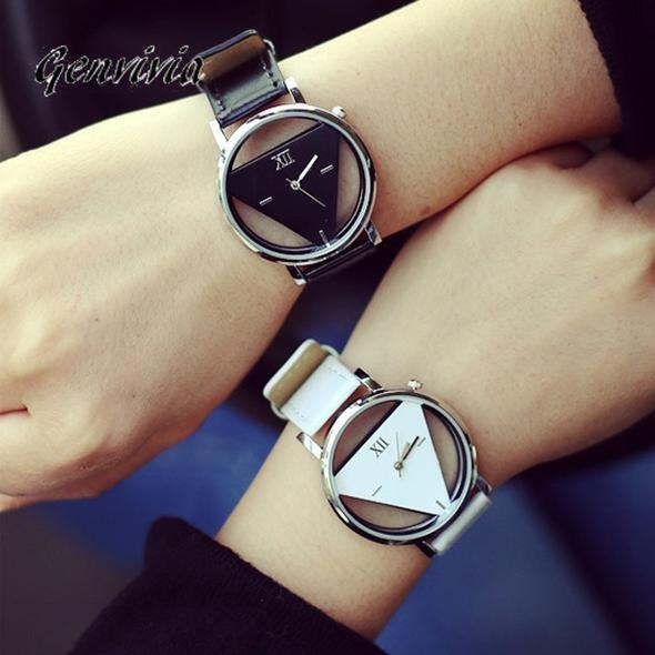 Triangular Fascination Reloj Line Silver bDEHIYeW29