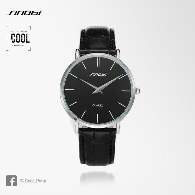 c510eef1eb33 Reloj Sinobi Elegante De Vestir Ultra Delgado Cuero Genuino - S  60 ...