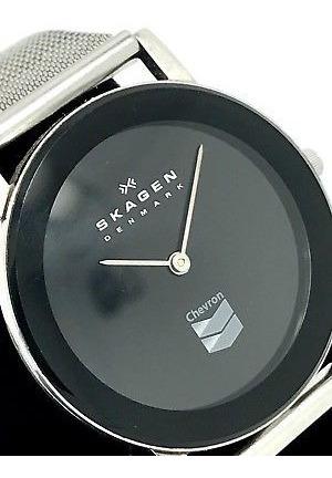 En Madera Reloj Caja Skagen Edicion Chevron Exclusiva De QBxWCdroe