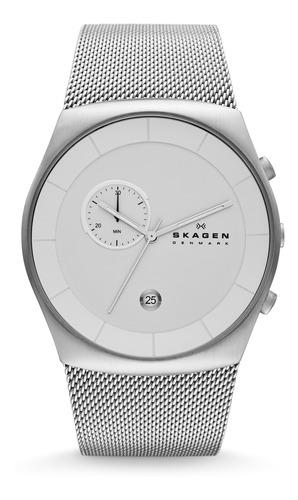 reloj skagen hombre plateado skw6071