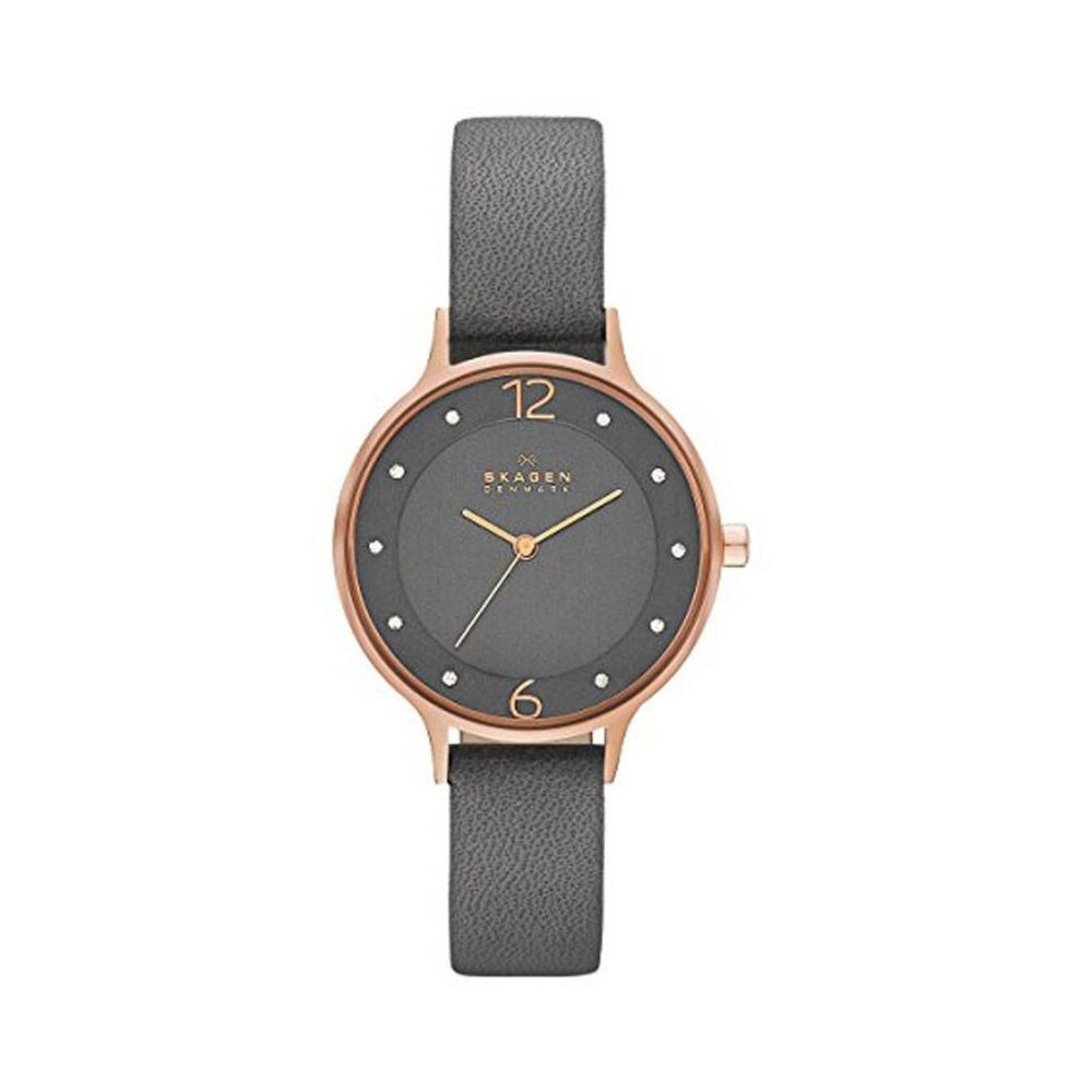 840829c38924 Reloj Skagen Skw2267 Cuero Gris Mujer -   329.900 en Mercado Libre