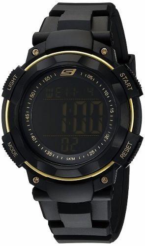 reloj skechers sr1019 digital display black para hombre