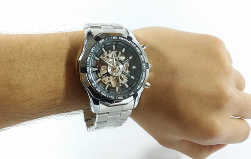 reloj skeleton metálico winner