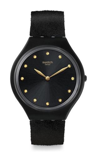 reloj skinora negro swatch