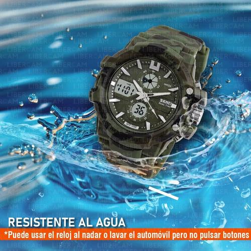 reloj skmei 0990 hombre deportivo digital garantia camuflado