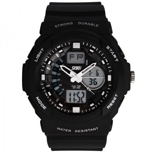 reloj skmei 1008 -sumergible 50 mts - deportivo- cronometro