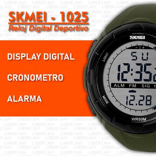 reloj skmei 1025 hombre mujer deportivo digital sumergible