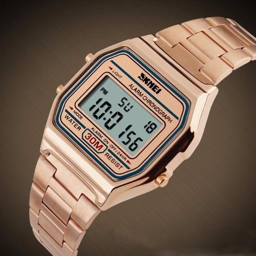 reloj skmei 1123 - vintage - varios colores - garantia